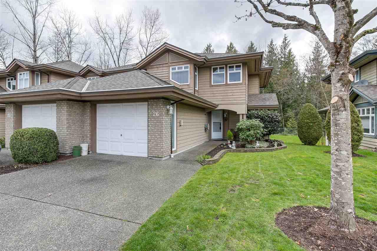 "Main Photo: 26 11737 236 Street in Maple Ridge: Cottonwood MR Townhouse for sale in ""MAPLEWOOD CREEK"" : MLS®# R2252662"