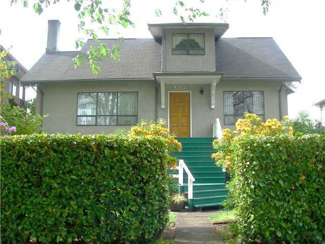 Main Photo: 3858 W 20TH AV in Vancouver: Dunbar House for sale (Vancouver West)  : MLS®# V1045599