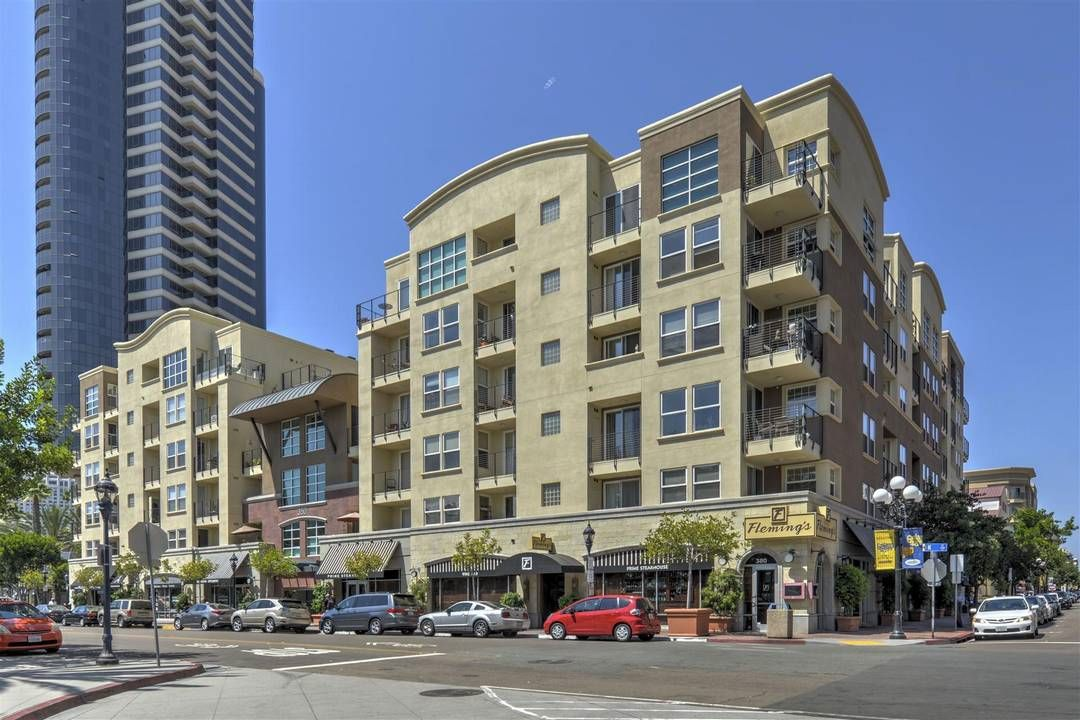 Crown Bay!  Located in one the best locations in all of downtown San Diego.  Close to everything and in a quite pocket on K Street between 3rd and 4th Streets (third is not a thru street to Harbor Drive).