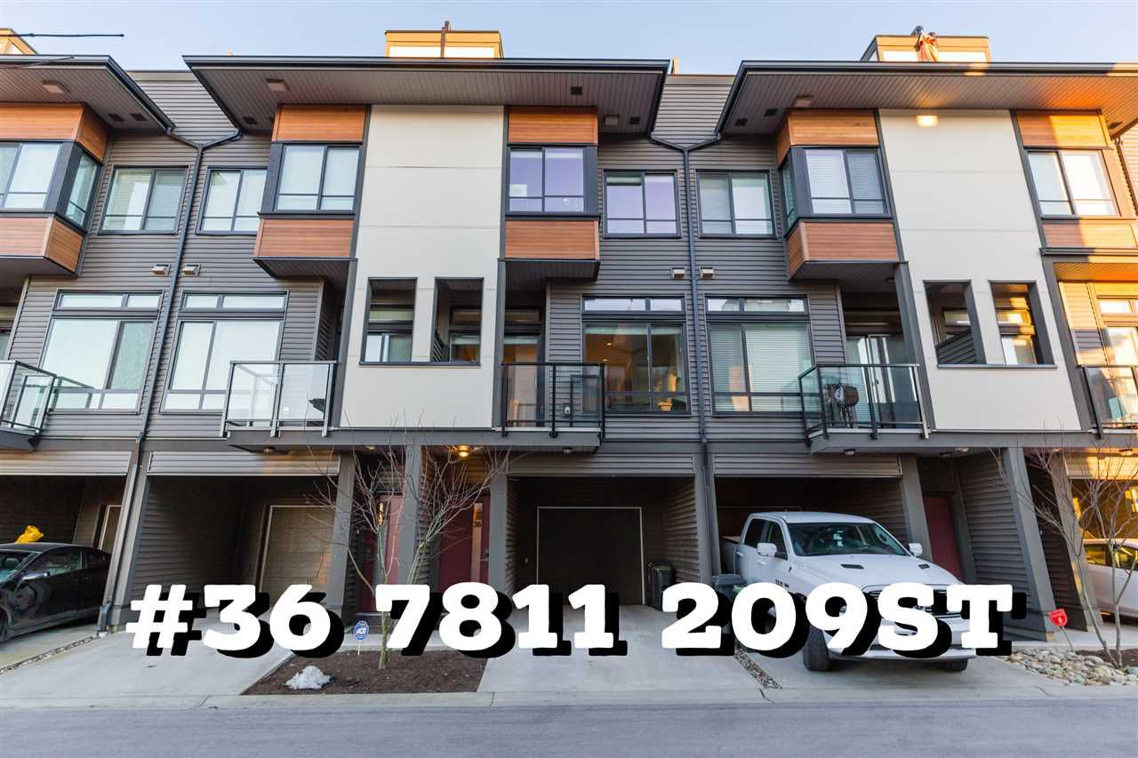 "Main Photo: 36 7811 209 Street in Langley: Willoughby Heights Townhouse for sale in ""EXCHANGE"" : MLS®# R2349574"
