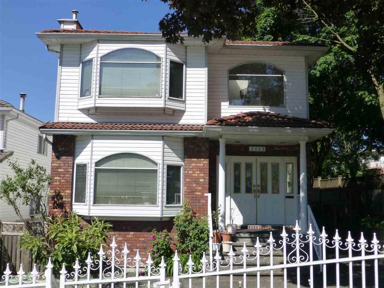 Main Photo: 2603 RENFREW Street in Vancouver: Renfrew VE House for sale (Vancouver East)  : MLS®# R2067585