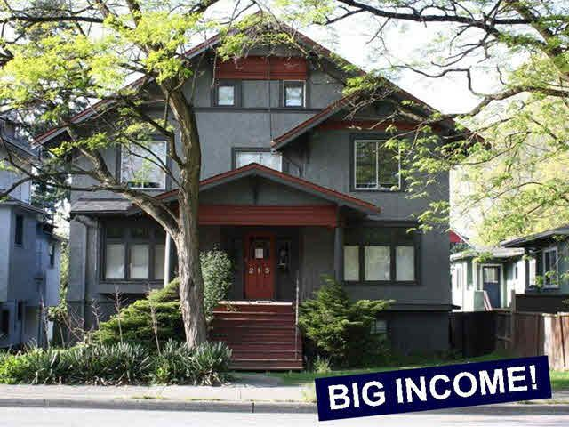 Main Photo: 215 W 12TH Avenue in Vancouver: Mount Pleasant VW Home for sale (Vancouver West)  : MLS®# V1127972