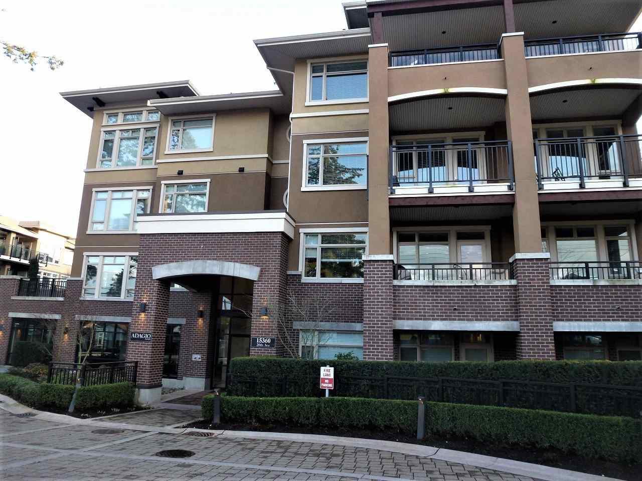 "Main Photo: 306 15360 20 Avenue in Surrey: King George Corridor Condo for sale in ""ADAGIO"" (South Surrey White Rock)  : MLS®# R2150727"