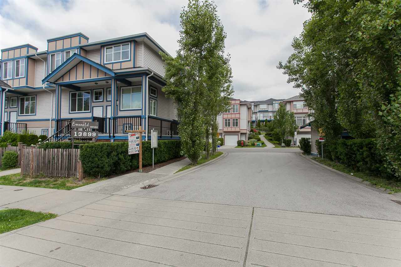 "Main Photo: 35 13899 LAUREL Drive in Surrey: Whalley Townhouse for sale in ""Emerald Garden"" (North Surrey)  : MLS®# R2376836"