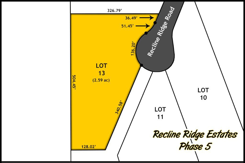 Recline Ridge Estates Phase V - Lot 13