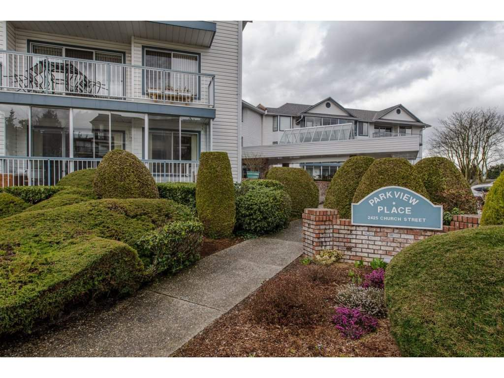 "Main Photo: 210 2425 CHURCH Street in Abbotsford: Abbotsford West Condo for sale in ""Parkview Place"" : MLS®# R2149425"