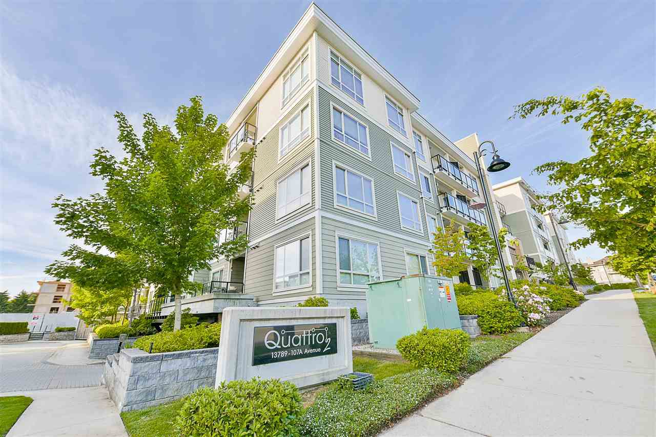 "Main Photo: 528 13789 107A Avenue in Surrey: Whalley Condo for sale in ""Quattro"" (North Surrey)  : MLS®# R2174671"