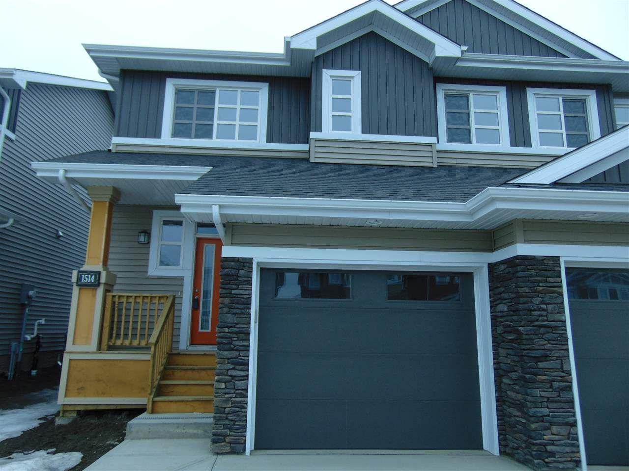 Main Photo: 1514 169 Street in Edmonton: Zone 56 House Half Duplex for sale : MLS®# E4148674