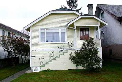Main Photo: 2850 MCGILL STREET in : Hastings East House for sale : MLS®# V287442