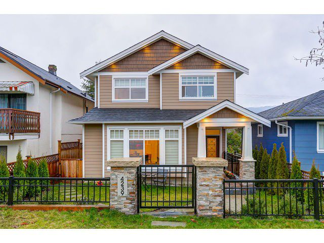Main Photo: 4239 ETON STREET in : Vancouver Heights House for sale : MLS®# R2032104