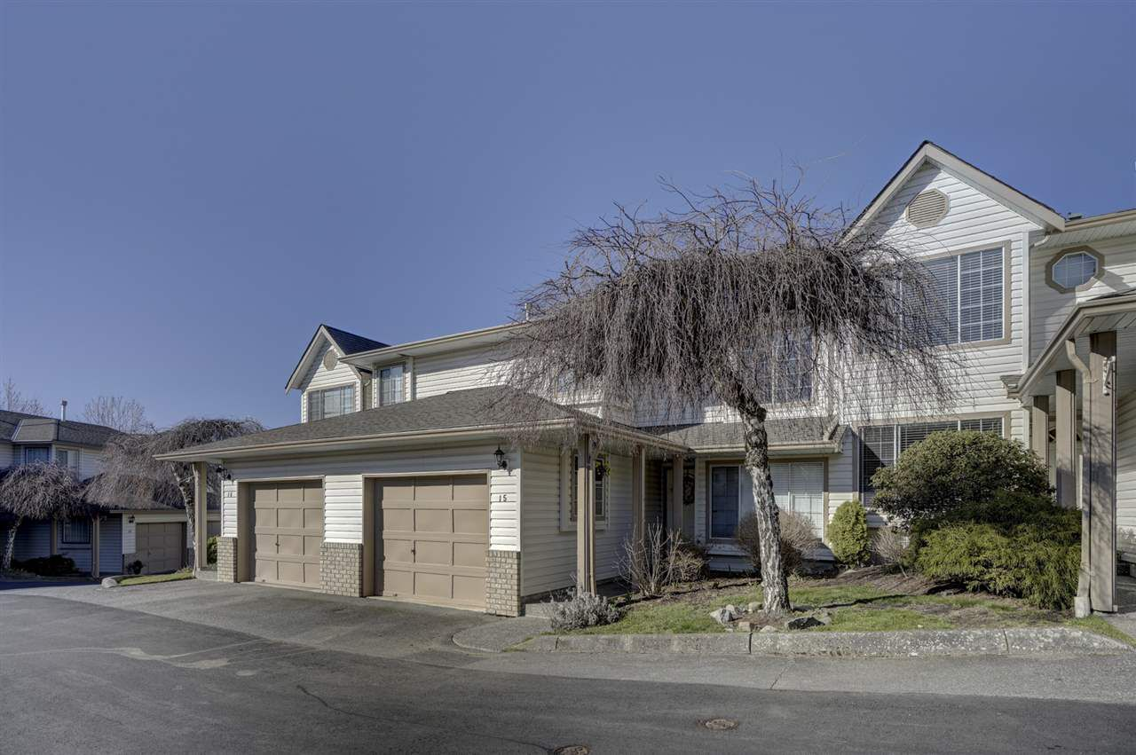 "Main Photo: 15 2575 MCADAM Road in Abbotsford: Abbotsford East Townhouse for sale in ""SUNNYHILL TERRACE"" : MLS®# R2349950"