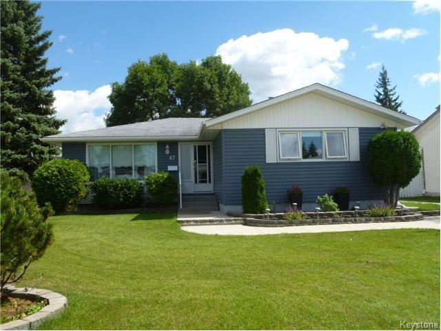 Main Photo: 67 Granada Crescent in WINNIPEG: Westwood / Crestview Residential for sale (West Winnipeg)  : MLS®# 1522095