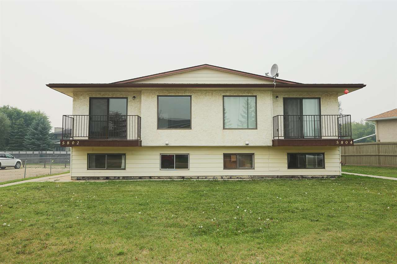 Main Photo: 5802 5804 52 Street: Wetaskiwin House Fourplex for sale : MLS®# E4139937