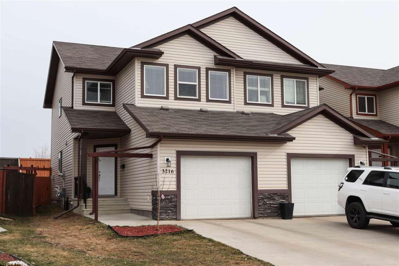 Main Photo: 3216 152 Avenue in Edmonton: Zone 35 House Half Duplex for sale : MLS®# E4153266