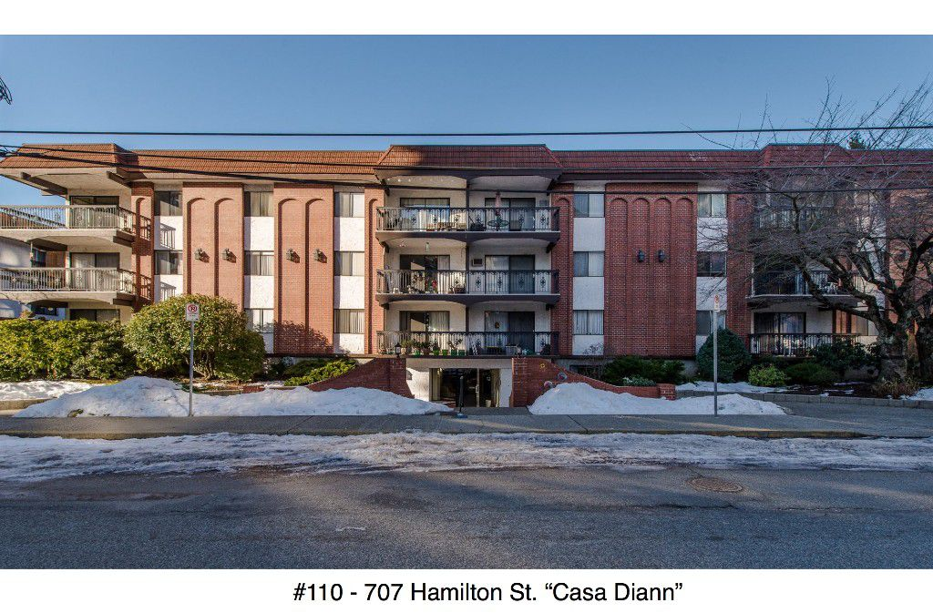 "Main Photo: 110 707 HAMILTON Street in New Westminster: Uptown NW Condo for sale in ""Casa Diann"" : MLS®# R2130307"