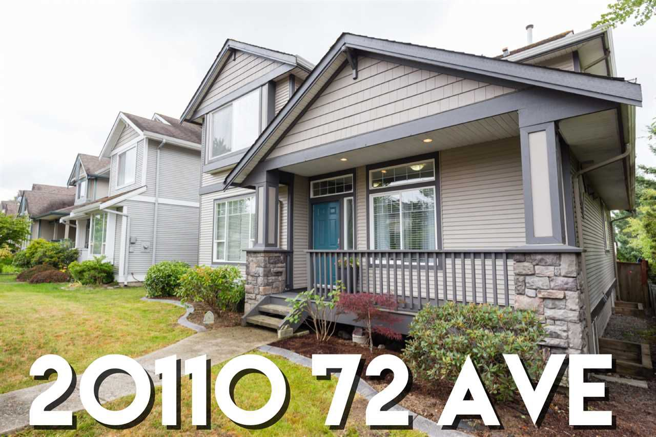"Main Photo: 20110 72 Avenue in Langley: Willoughby Heights House for sale in ""Parkside"" : MLS®# R2383881"