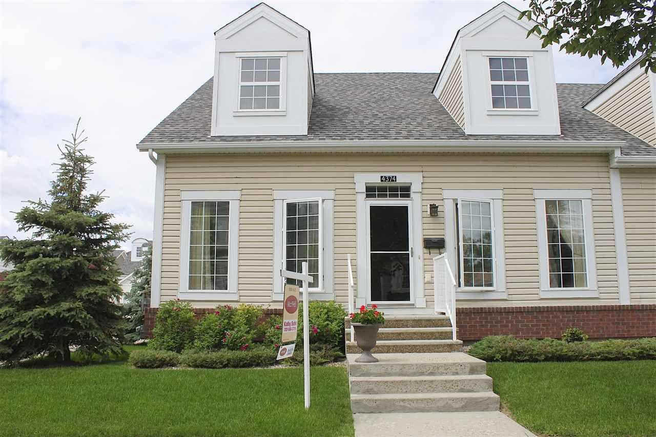 Main Photo: 4374 VETERANS Way in Edmonton: Zone 27 House Half Duplex for sale : MLS®# E4164102