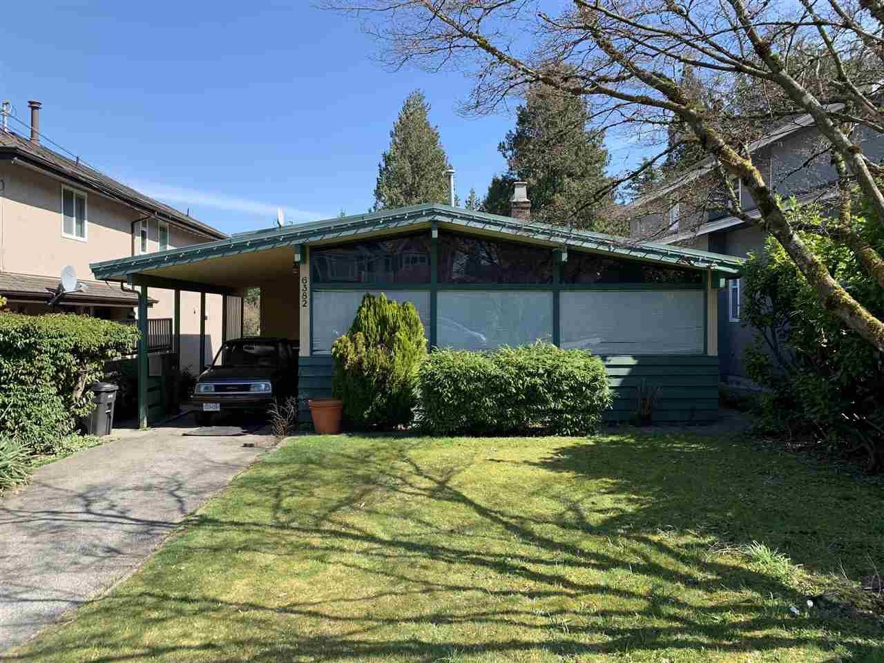 Main Photo: 6382 MALVERN Avenue in Burnaby: Buckingham Heights House for sale (Burnaby South)  : MLS®# R2353339
