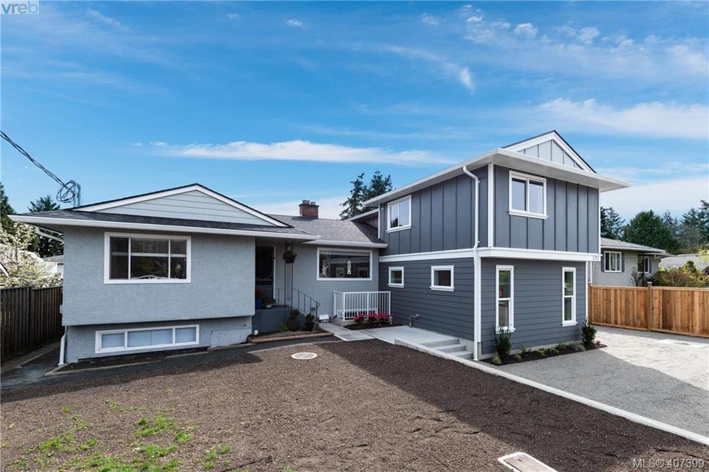 Main Photo: 593 Agnes Street in VICTORIA: SW Glanford Strata Duplex Unit for sale (Saanich West)  : MLS®# 407399