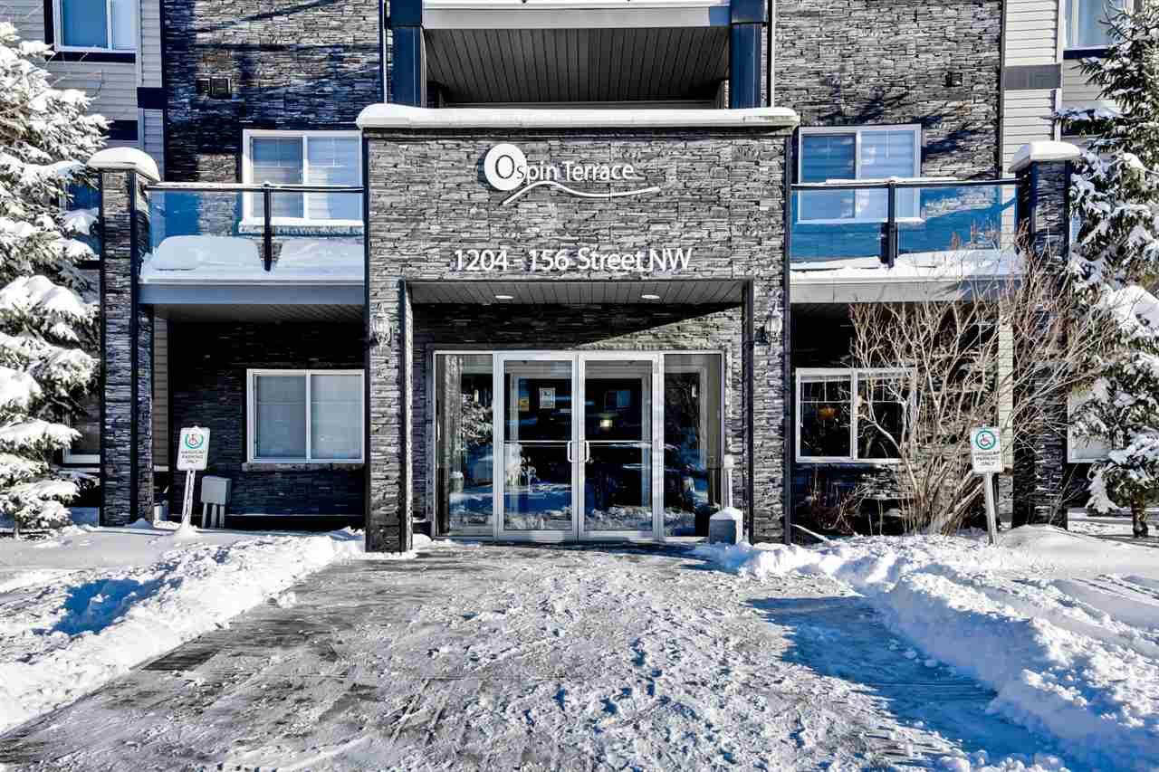 Main Photo: 209 1204 156 Street in Edmonton: Zone 14 Condo for sale : MLS®# E4137829
