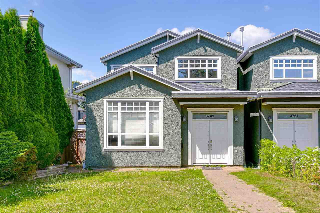 Main Photo: 3749 FOREST Street in Burnaby: Burnaby Hospital House 1/2 Duplex for sale (Burnaby South)  : MLS®# R2343053