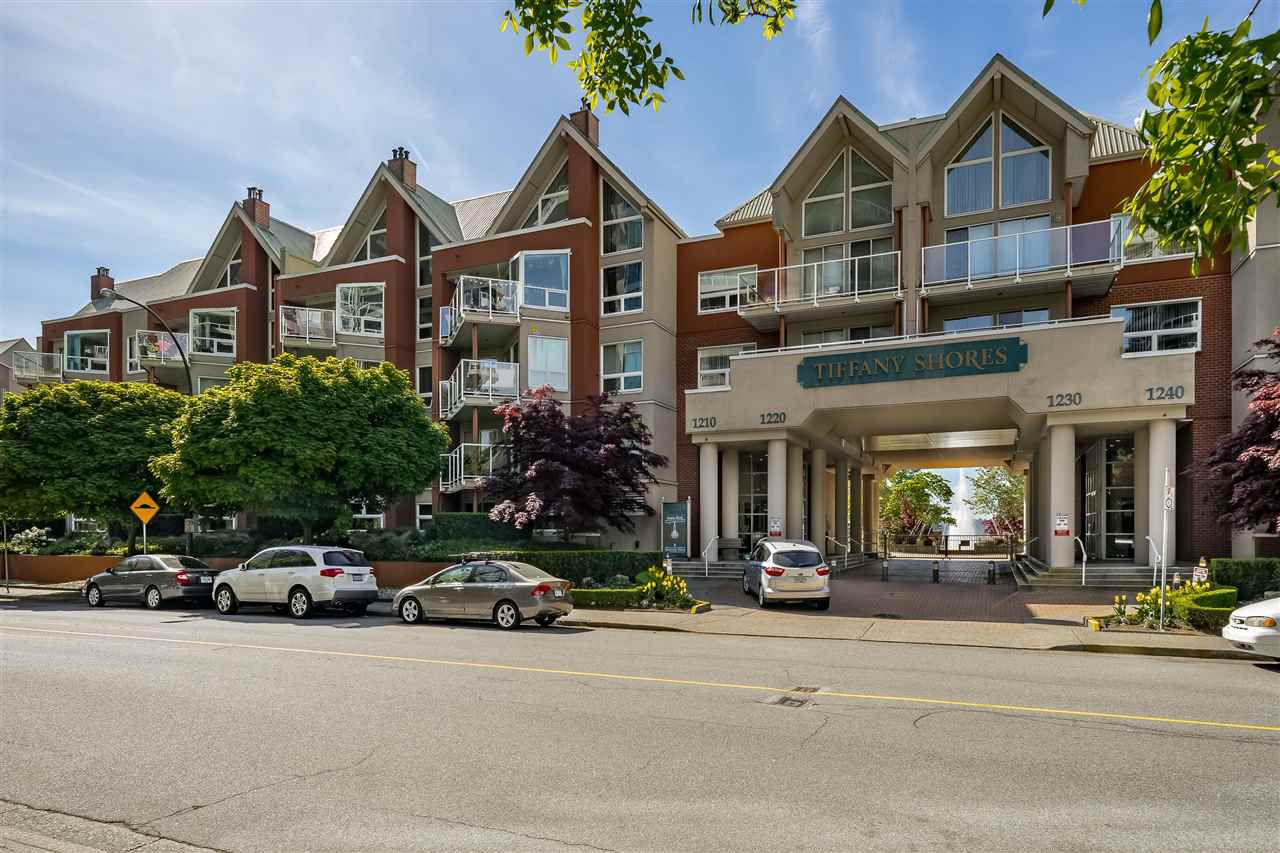 """Main Photo: 210B 1210 QUAYSIDE Drive in New Westminster: Quay Condo for sale in """"Tiffany Shores"""" : MLS®# R2376725"""