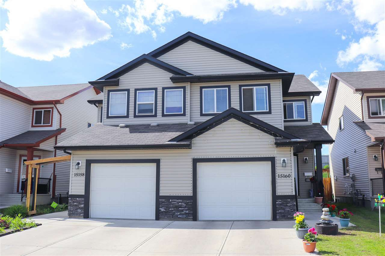 Main Photo: 15160 33 Street in Edmonton: Zone 35 House Half Duplex for sale : MLS®# E4162010