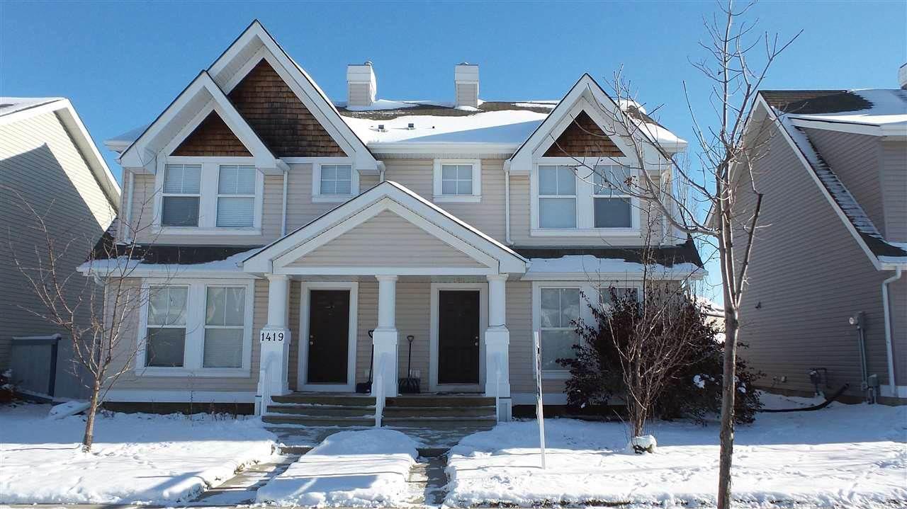 Main Photo: 1421 75 Street in Edmonton: Zone 53 House Half Duplex for sale : MLS®# E4107220