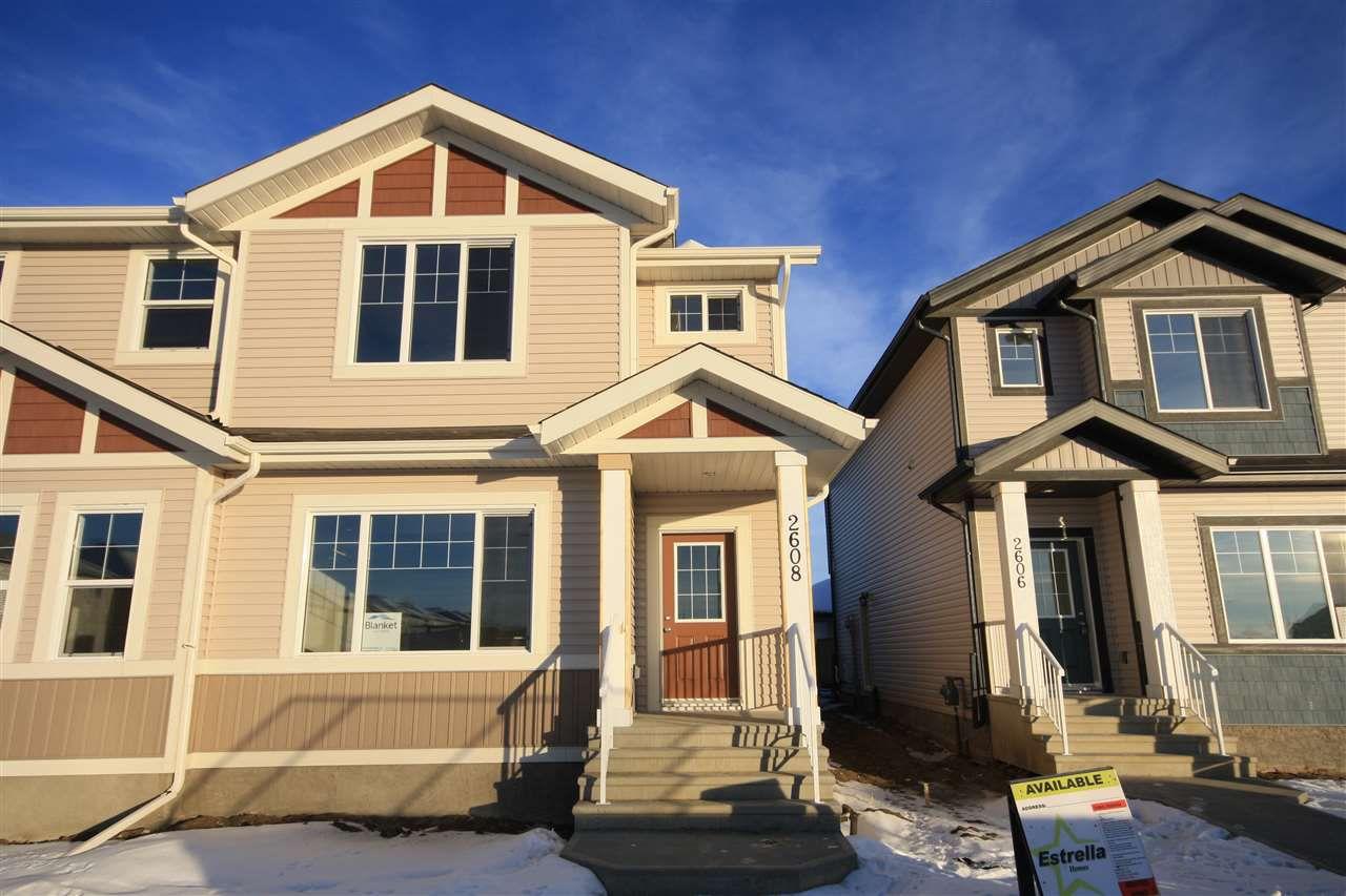 Main Photo: 2608 19A Avenue in Edmonton: Zone 30 House Half Duplex for sale : MLS®# E4143637