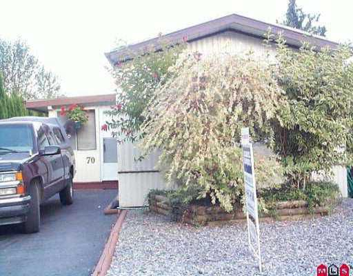 """Main Photo: 70 10221 WILSON ST in Mission: Mission BC Manufactured Home for sale in """"TRIPLE CREEK ESTATES"""" : MLS®# F2518641"""