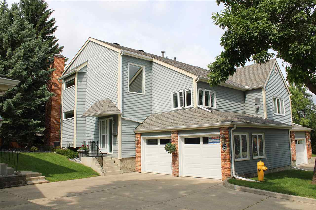 Main Photo: 12 WHITEOAKS Estates: St. Albert Townhouse for sale : MLS®# E4163789