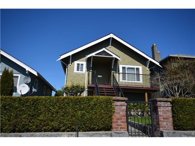 Main Photo: 3613 FRANKLIN Street in Vancouver: Hastings East House for sale (Vancouver East)  : MLS®# V1055649