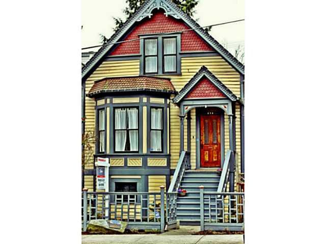 Main Photo: 656 E CORDOVA Street in Vancouver: Hastings House for sale (Vancouver East)  : MLS®# V1061257