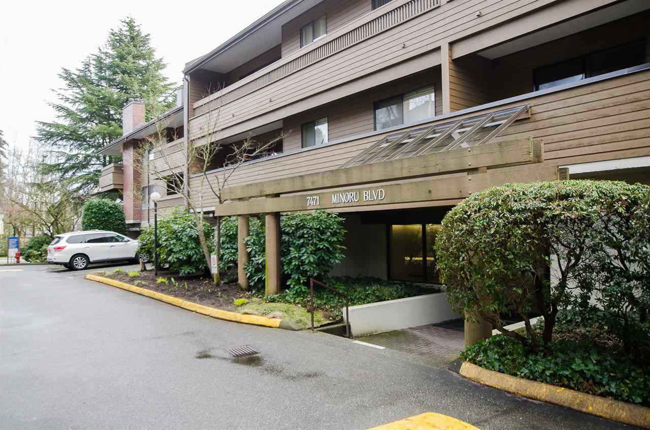 "Main Photo: 248 7471 MINORU Boulevard in Richmond: Brighouse South Condo for sale in ""Woodridge Estates"" : MLS®# R2145704"
