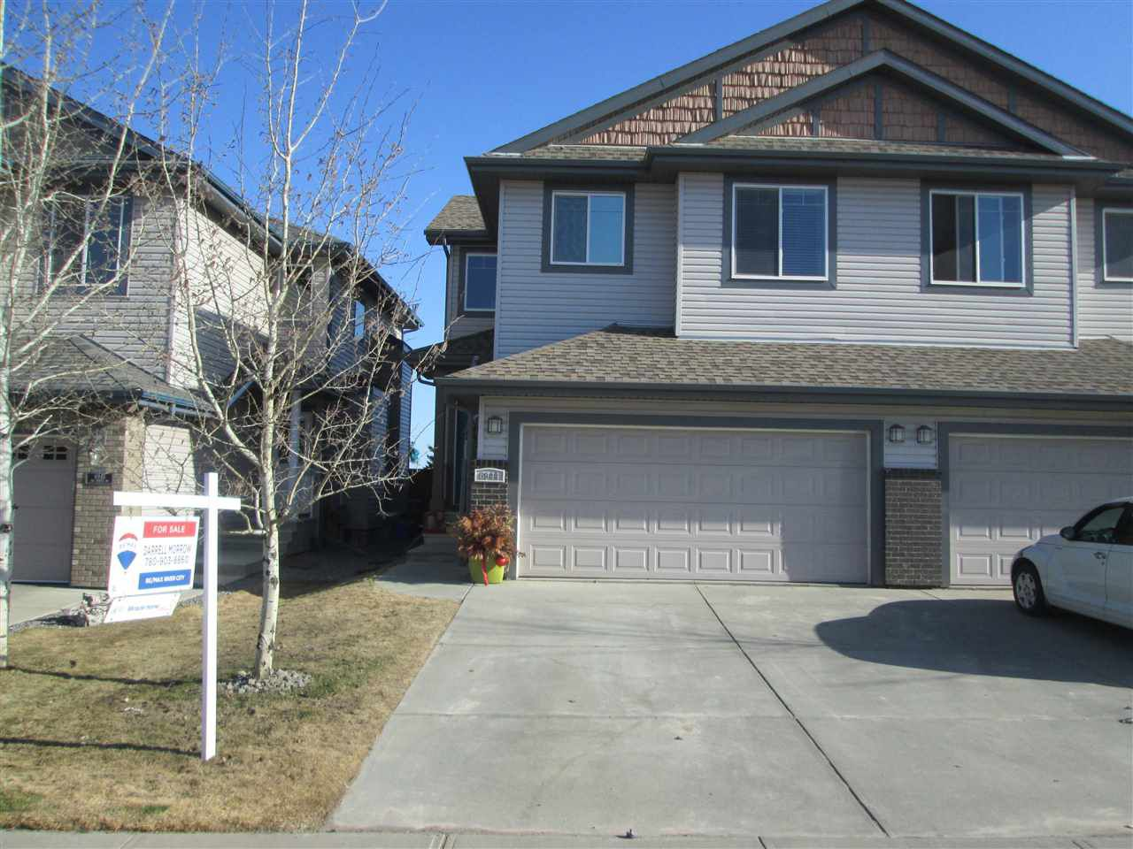 Main Photo: 6944 19A Avenue in Edmonton: Zone 53 House Half Duplex for sale : MLS®# E4137348