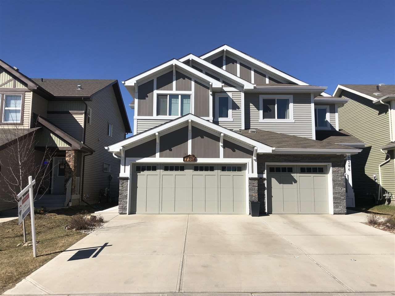 Main Photo: 17304 73 Street in Edmonton: Zone 28 House Half Duplex for sale : MLS®# E4150339