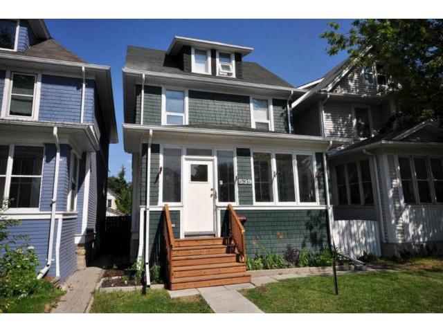 Main Photo: 539 Camden Place in WINNIPEG: West End / Wolseley Residential for sale (West Winnipeg)  : MLS®# 1214524