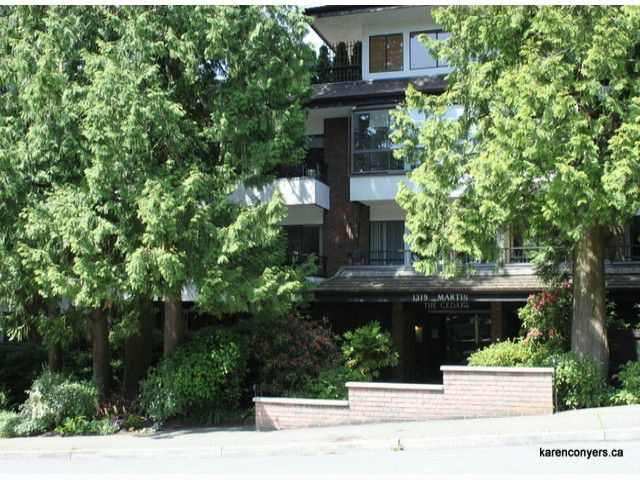 "Main Photo: 310 1319 MARTIN Street: White Rock Condo for sale in ""The Cedars"" (South Surrey White Rock)  : MLS®# F1305898"