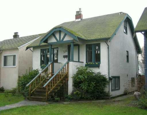 Main Photo: 936 E 21ST AV in Vancouver: Fraser VE House for sale (Vancouver East)  : MLS®# V574417