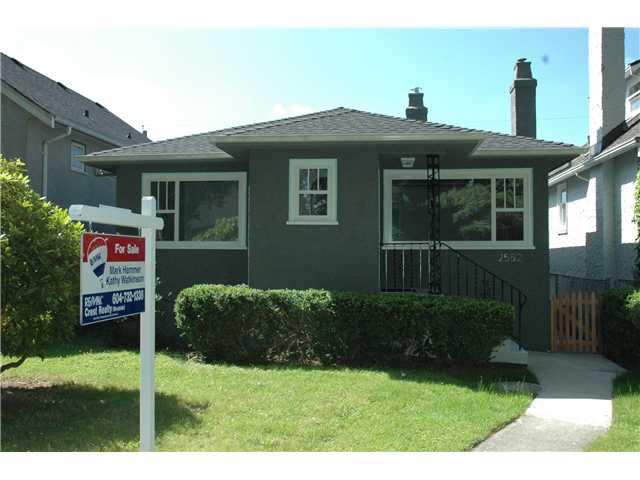 Main Photo: 2552 WILLIAM Street in Vancouver: Renfrew VE House for sale (Vancouver East)  : MLS®# V1015127
