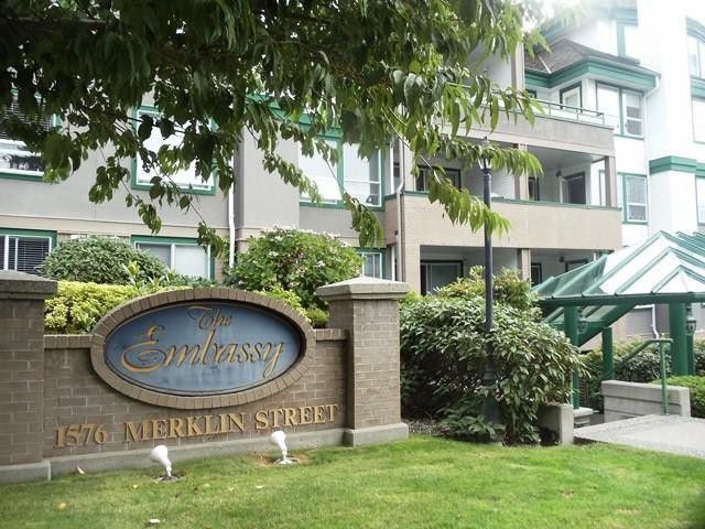 Main Photo: # 306 1576 MERKLIN ST: White Rock Condo for sale (South Surrey White Rock)  : MLS®# F1320649