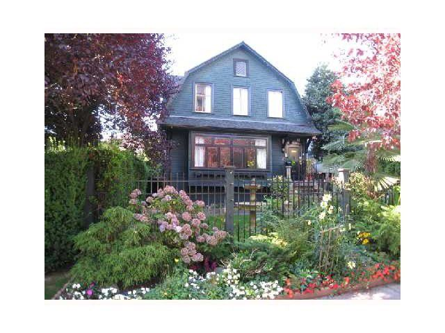 Main Photo: 1860 BARCLAY ST in Vancouver: West End VW House for sale (Vancouver West)  : MLS®# V1047125