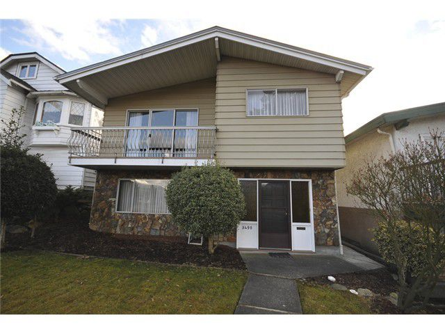 Main Photo: 3490 CAMBRIDGE ST in Vancouver: Hastings East House for sale (Vancouver East)  : MLS®# V1056008