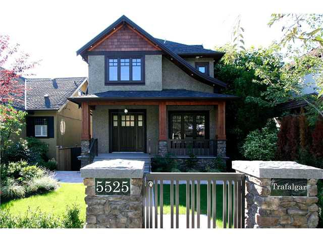 Main Photo: 5525 TRAFALGAR ST in Vancouver: Kerrisdale House for sale (Vancouver West)  : MLS®# V1016735