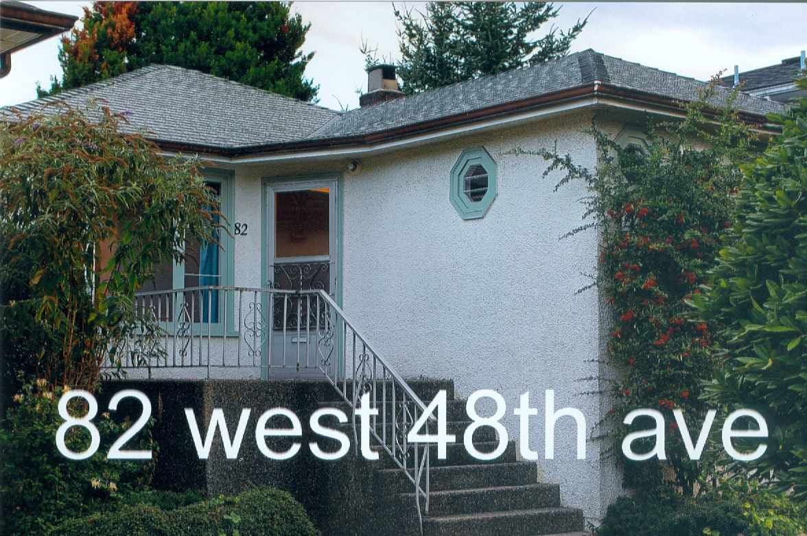 Main Photo: 82 W 48TH AVENUE in Vancouver: Oakridge VW House for sale (Vancouver West)  : MLS®# R2000561