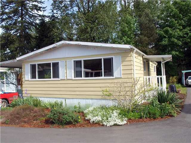 "Main Photo: 62 4200 DEWDNEY TRUNK Road in Coquitlam: Ranch Park Manufactured Home for sale in ""HYDE CREEK PARK"" : MLS®# V1009984"