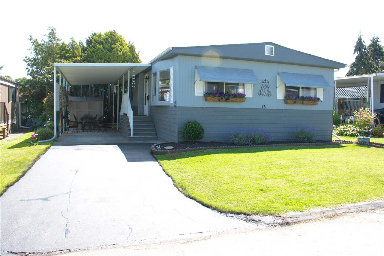 Main Photo: 13 1840 160TH STREET in Surrey: King George Corridor Manufactured Home for sale (South Surrey White Rock)  : MLS®# R2083587