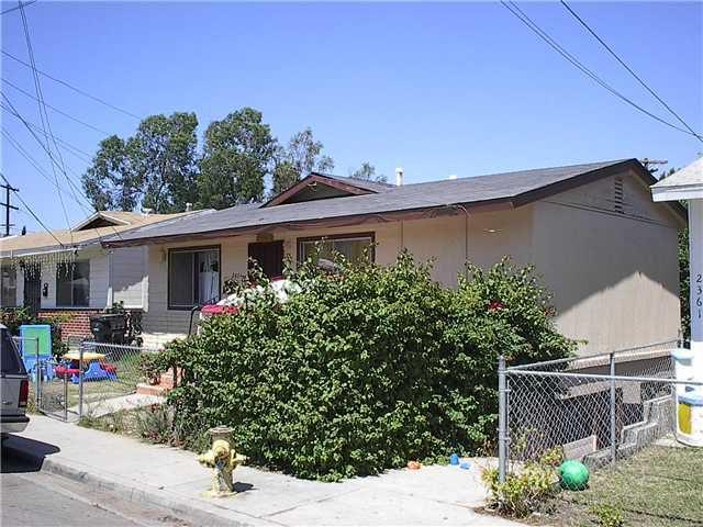 Main Photo: SAN DIEGO Property for sale: 2431-33 Modesto Street