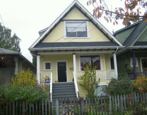 Main Photo: 2645 CAROLINA ST in : Mount Pleasant VE House for sale : MLS®# V620274