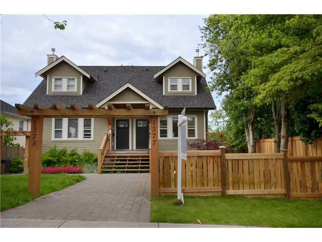 Main Photo: 1377 E 20TH Avenue in Vancouver: Knight House 1/2 Duplex for sale (Vancouver East)  : MLS®# V960310